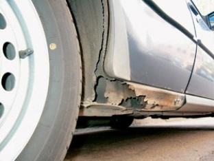 Коррозия порогов автомобиля