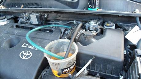 Промывка топливной системы с помощью состава Diesel Injection Flush