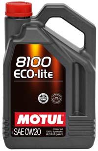 MOTUL 8100 Eco-Lite 0W-20 новое 100% синтетическое энергосберегающее моторное масло для бензиновых двигателей
