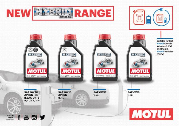 Motul Hybrid range для гибридных автомобилей