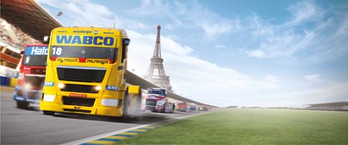 Финальный этап Европейского чемпионата гонок грузовиков в Ле Mан, Франция, октябрь 2012 года